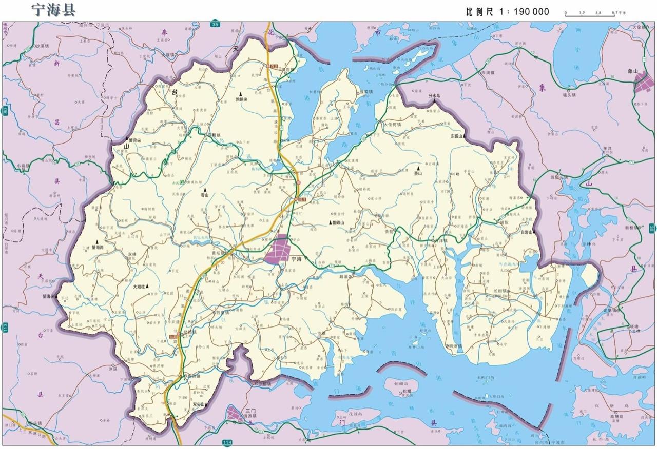 宁海地图高清版